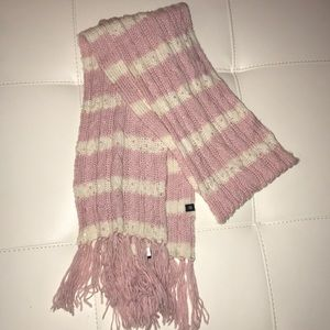 Pink and white striped scarf with sequins!
